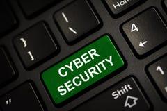 Het bericht op groen gaat sleutel in Het Concept van de Veiligheid van Cyber royalty-vrije stock afbeelding