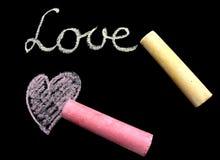 Het bericht van de liefde Stock Afbeeldingen