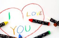 Het bericht van de liefde stock fotografie