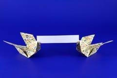 Het Bericht van de origami Royalty-vrije Stock Afbeelding