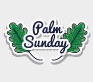 Het bericht van de palmzondag aan katholieke godsdienst royalty-vrije illustratie
