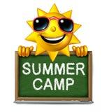 Het Bericht van het de zomerkamp Stock Afbeelding