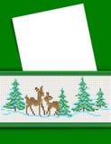 Het bericht van Kerstmis. Royalty-vrije Illustratie
