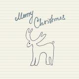 Het bericht van Kerstmis Stock Afbeeldingen