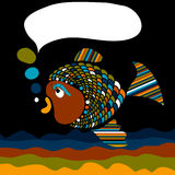 Het bericht van vissen vector illustratie