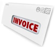 Het Berichtherinnering van rekeningsbill due mailed letter envelope Royalty-vrije Stock Afbeeldingen