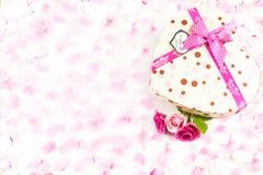 Het berichtkaart van de valentijnskaart Stock Foto