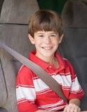 Het Berijden van de jongen in Bestelwagen Royalty-vrije Stock Fotografie