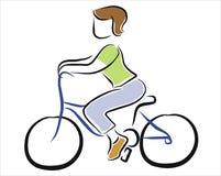 Het berijden van een fiets Stock Foto