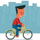 Het berijden van een fiets Royalty-vrije Stock Foto's