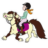 Het berijden van het meisje poney Royalty-vrije Stock Fotografie