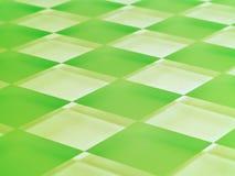 Het berijpte Schaakbord van het Glas in Groene Kalk Royalty-vrije Stock Afbeelding