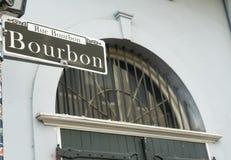 Het Beroemde Franse Kwart Van de binnenstad New Orleans van de bourbonstraat stock foto