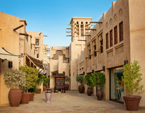 Het beroemde hotel en toeristendistrict van Madinat Jumeirah Royalty-vrije Stock Foto