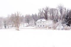 Het beroemde huis van de goethetuin in weimar ilmpark in de winter royalty-vrije stock fotografie