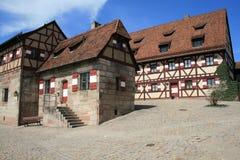 Het beroemde kasteel van Nurnberg of van Nuremberg Stock Afbeeldingen