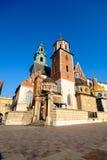 Het beroemde kasteel van oriëntatiepuntwawel Stock Afbeelding