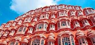 Het beroemde oriëntatiepunt van Rajasthan - Hawa Mahal-paleispaleis van de Winst stock foto