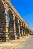 Het beroemde oude aquaduct in Segovia Stock Fotografie