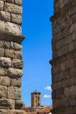 Het beroemde oude aquaduct in Segovia Stock Foto