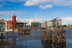 Het beroemde Pierhead-Gebouw, Cardiff, Wales royalty-vrije stock afbeeldingen