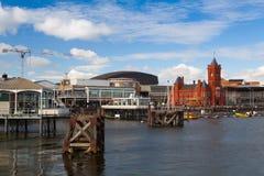 Het beroemde Pierhead-Gebouw, Cardiff, Wales stock foto