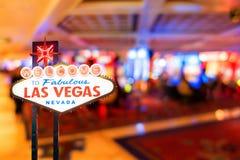 Het beroemde teken van Las Vegas royalty-vrije stock afbeelding