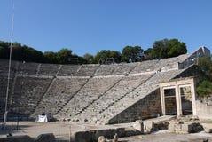Het beroemde theater van Epidaure in Griekenland stock afbeelding