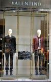 Het beroemde venster van de merkwinkel Stock Foto