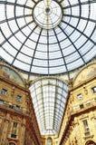 Het beroemde winkelcentrum van Galleria Vittorio Emanuele Royalty-vrije Stock Fotografie
