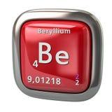 Het beryllium is chemisch element van het periodieke lijst rode pictogram Royalty-vrije Stock Afbeeldingen