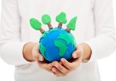 Het beschermen van de bossen en het ecologieconcept Stock Fotografie