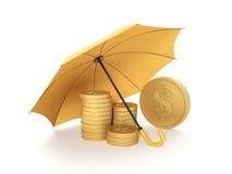 Het beschermen van fondsen Stock Foto's