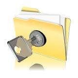 Het beschermen van het gegevenspictogram Royalty-vrije Stock Foto