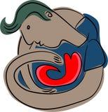 Het beschermen van het hart stock illustratie