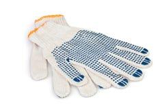 Het beschermende handschoenen werken Stock Foto's