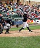 Het beslag Jesus Montero van de Yankees van de Staaf van Wilkes van Scranton stock foto