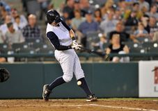 Het beslag van het honkbal - vuile bal van been Royalty-vrije Stock Foto