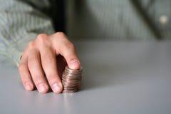 Het besluit van het geld stock foto's