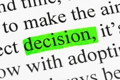 Het besluit van Word in tekst royalty-vrije stock fotografie