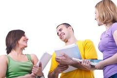Het bespreken van studenten Stock Afbeelding