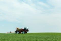 Het bespuiten van de herbiciden Stock Foto's