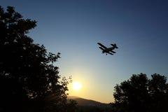 Het bespuiten van het vliegtuig muggen Royalty-vrije Stock Afbeelding