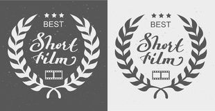 Het best plotseling film Laurel Wreath Award royalty-vrije illustratie