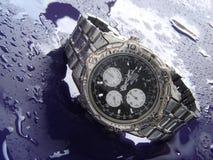 Het bestand horloge van het water stock afbeelding