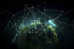 Het beste Concept van Internet globale zaken Stock Foto's