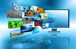 Het beste Concept van Internet globale zaken Bol Stock Foto