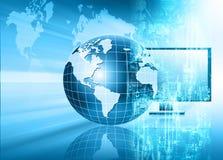 Het beste Concept van Internet globale zaken Bol Stock Afbeelding