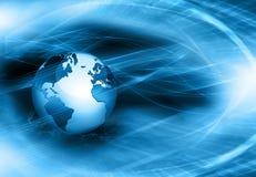 Het beste Concept van Internet globale zaken Bol Royalty-vrije Stock Foto