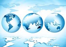 Het beste Concept van Internet globale zaken Bol, gloeiende lijnen op technologische achtergrond Elektronika, WiFi, stralen Royalty-vrije Stock Afbeeldingen